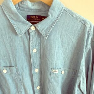Polo Ralph Lauren chambray long sleeve button down